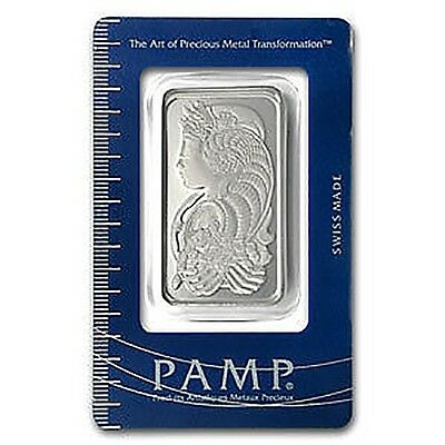 Pamp Suisse 50 Grams 999 Silver Bullion - Top Financial Investment - Rare