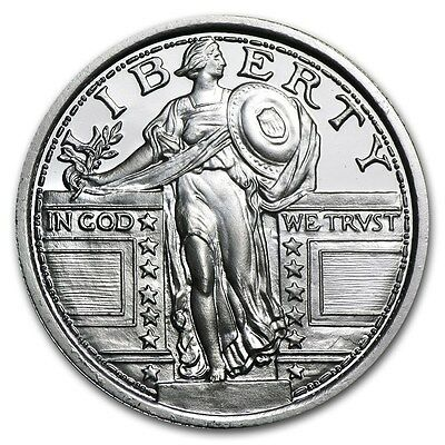 Standing Liberty Lady Quarter Dollar 999 Silver Silver Coin 1/4 oz Eagle Eagle