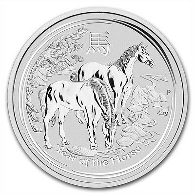 5 oz 999 silver coin Lunar II Year of the Horse 2014 NEW