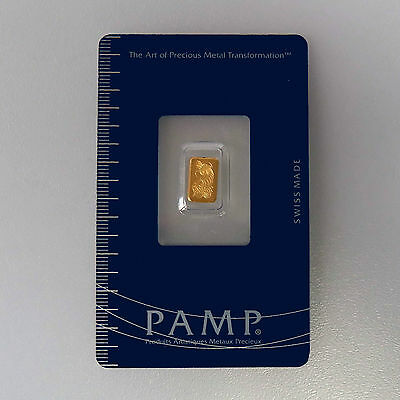 999 Gold Gold bullion Fortuna Pamp Suisse in Blister packed with certificate NEW