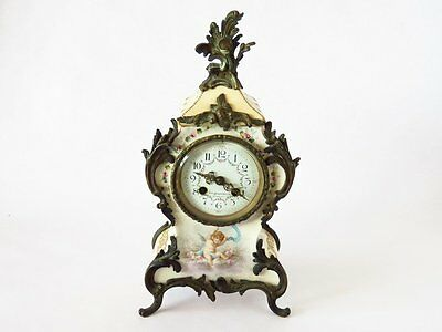 Rare Late Nineteenth Century Charles Jacques Porcelain Cherub Clock ~Exquisite~