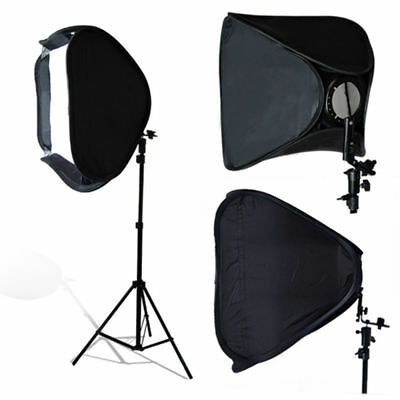 "Photo Studio 24"" Softbox with 7ft Light Stand Kit F Speed Lite Flash Speedlight"