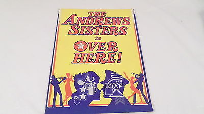1974 Andrews Sisters in Over Here! Theater Souvenir Program