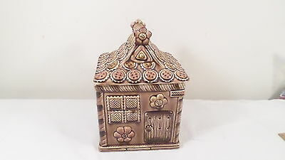 Vintage Topline Japan Ceramic Gingerbread Cookie House  #22 Cookie Jar