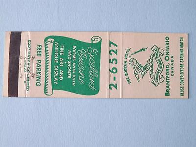 Bodega Hotel Brantford Ont Vintage Restaurant Matchbook Art Antiques