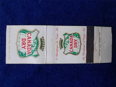 Canada Dry The Champange Of Ginger Ales Soda Pop Advertising Vintage Matchbook