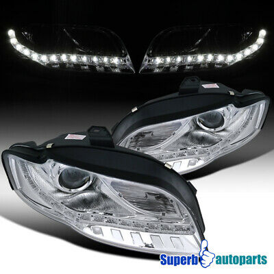 For 2006-2008 Audi A4 Replacement Projector Headlights LED Lamps