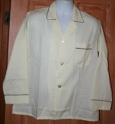 Vintage Mens' Two Piece Pajamas New Old Stock Chelsea Poly-Cotton M Usa L/s