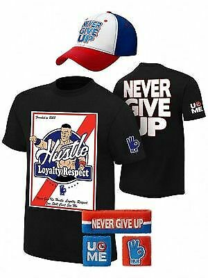 John Cena Founded in 2002 Mens Costume Hat T-shirt Wristbands