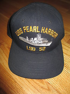 USS PEARL HARBOR LSD 52 Harpers Ferry-Class Dock Landing Ship (Snap Back) Cap