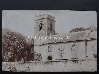 Yorkshire TONG St James Church & The Village Stocks - Old RP Postcard