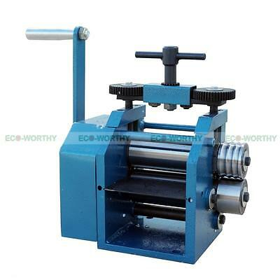 """4"""" 130mm Rolling Mill Roller Flat Stock Square Half Round Wire Machine for Gold"""