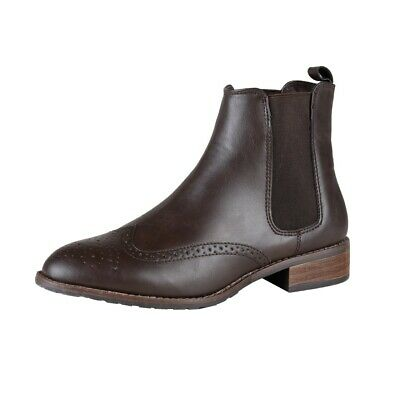 Lebua Ladies Chelsea Booties, Ankle Boots, Leisure, Profession, Sale, Brown