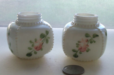 Pair 0F Fancy Painted Victorian Shakers