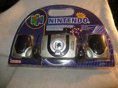 NINTENDO PORTABLE AM/FM Cassette Player With Speakers N64 - Sealed