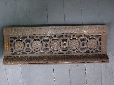 Antique Victorian Fancy Filigreed  Rectangular Cast Iron Grate or Cover c1895