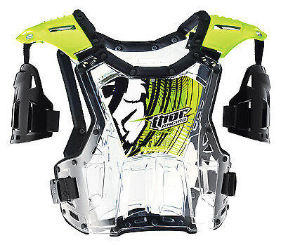 Thor Men's Quadrant Roost Guard Chest Protector Flo Green