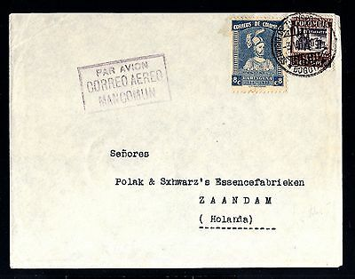 12972-COLOMBIA-AIRMAIL COVER BOGOTA to ZAANDAM (holland).1934.WWII.