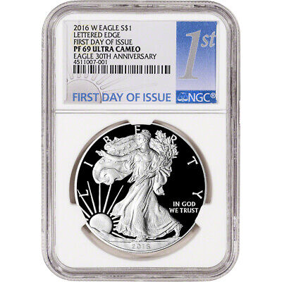 2016-W American Silver Eagle Proof - NGC PF69 UCAM First Day of Issue 1st Label