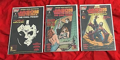 Jason Goes to Hell 1 2 3 Complete SET Topps~Friday the 13th~SEALED~#1 GLOW DARK