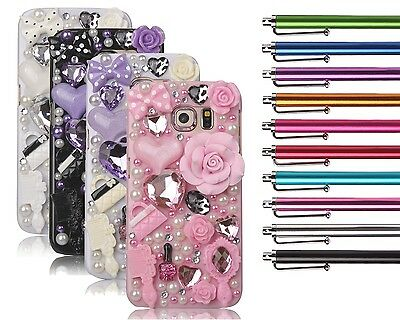 Bling Crystal Cute 3D Diamond Flower Hard Shell Glitter Diamond Phone Case