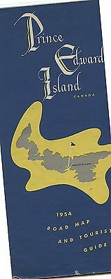 Old 1954 Prince Edward Island PEI Road Map & Tourist Guide