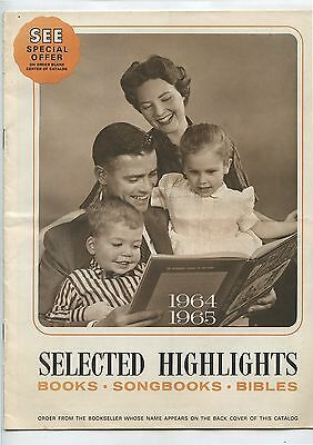 Old 1965 Catalog Calvary Book Store Religious Bibles Songbooks Etc
