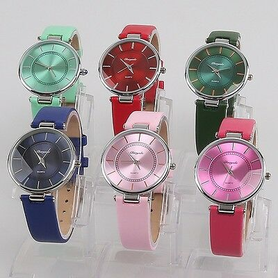 6pcs Wholesale Fashion Women Lady Girls Gift Leather Quartz Wristwatches U57M