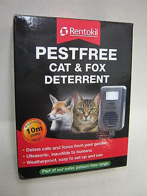 New Rentokil Pestfree Cat And & Fox Deterrent Ultrasonic FC78