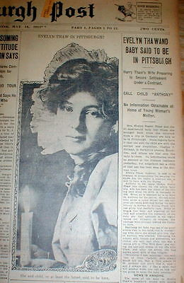 5 1912-17  newspapers HARRY THAW TRIAL after Stanford White murder EVELYN NESBIT