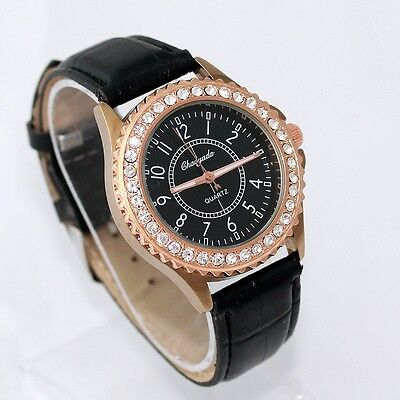 Lot of 9pcs Mixed Bulk Women Men Watch Rhinestone Leather Wristwatches U59M9