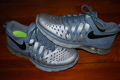 Mens Nike Fingertrap Air Max Reflective Silver Training Sneakers (10) 644673-010