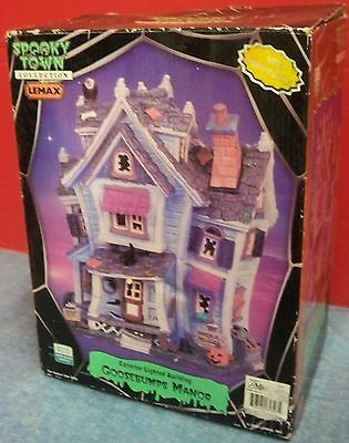 Halloween Decor Lemax Spooky Town Coll Goosebumps Manor 2006 Orig Box & Packing