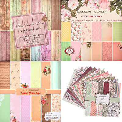 1 Set 24 Sheets Theme Paper Crafts Scrapbooking Craft Card Making DIY Origami