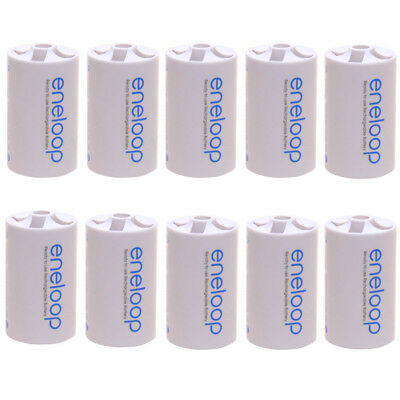 10pcs x Sanyo Eneloop Battery Adaptor Converter Case AA R6 to D R20 D-Size