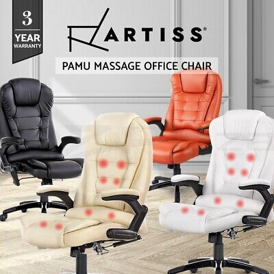 Artiss 8 Point Massage Office Chair Executive Computer Heated Recliner Chairs