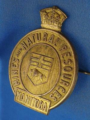 Mines & Natural Resources Manitoba Can Shield Badge Vintage Game Warden Police