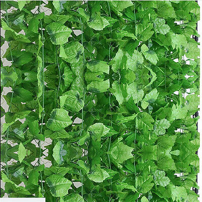 DIY 8.2Feet Artificial Grape Vine Faux Ivy Leaf Garland Fake Foliage Home Plant