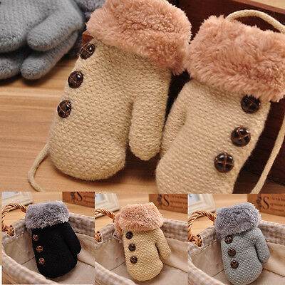 Baby Kids Girls Boys Winter Child Gloves Newborn Warm Stretchy Knitted Mittens