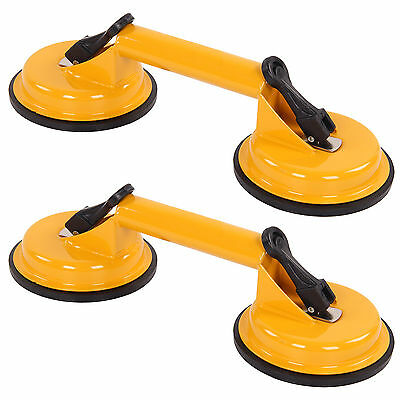 2 x Heavy Duty Double Suction Cup Pad Glass Lifter Metal Window Mirror Tool UK