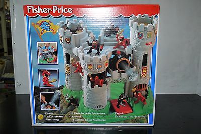 1996 Vintage Fisher Price Little People Knights Castle Great Adventures Mib