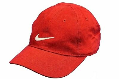 Nike Youth's Embroidered Swoosh Logo Cotton Baseball Cap Sz: 4/7