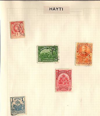 Postage Stamps ~ HAYTI Five Items HAITI  ~ Caraibbean USED & UNUSED