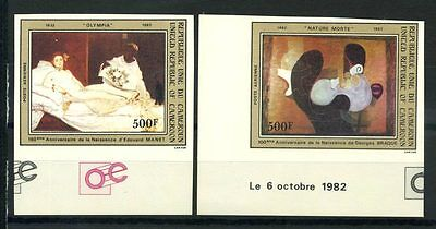 16-10-05241 - Cameroon 1982 Mi.  995-996 MNH 100% Imperf. OLYMPIA