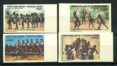16-10-05228 - Togo 1985 Mi.  1875-1878 MNH 100% Imperf.Traditional dancing