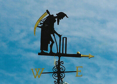 Father Time Compass Weather Vane at Lords Cricket Ground Postcard