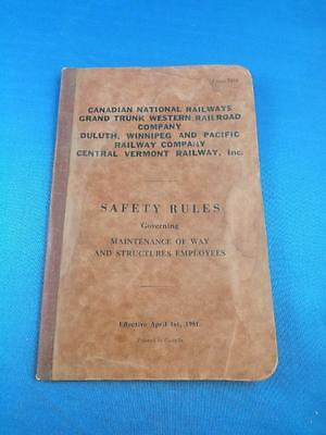 Canadian National Railways Safety Rules Grand Trunk Western Railroad 1951 Train