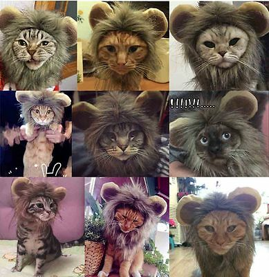 1b9289a8e New Pet Costume Lion Mane Wig Dog Cat Halloween Clothes Fancy Dress up with  Ears