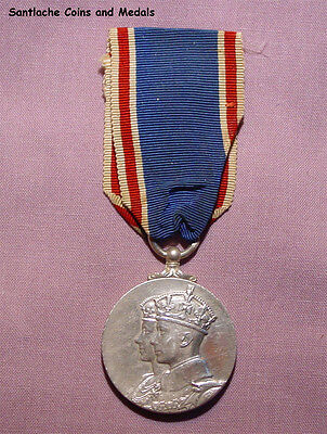 1937 OFFICIAL KING GEORGE VI CORONATION MEDAL - Original Example