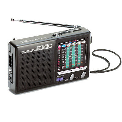 Portable Am/Fm 9 Band Radio, Black, by Collections Etc